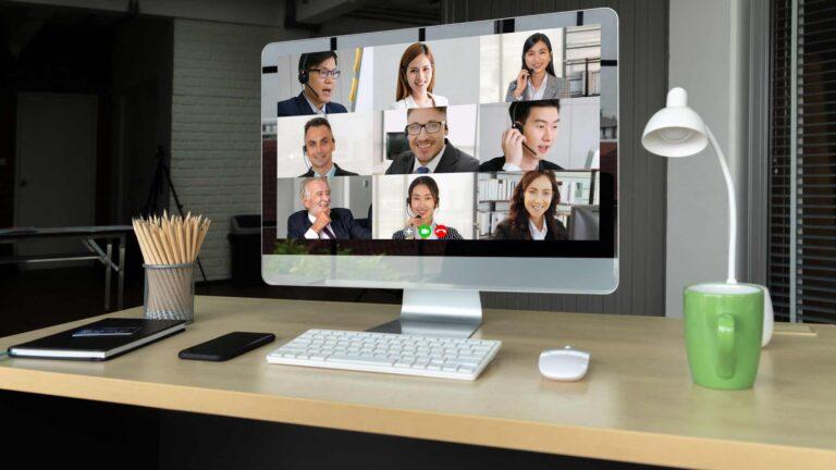 online webinar on desktop